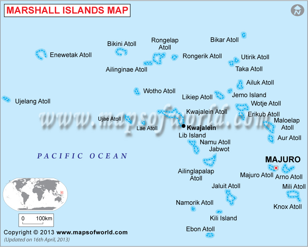 Marshall Islands Map