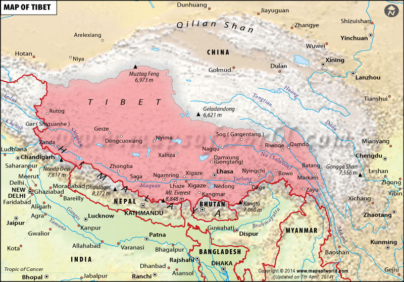 a geography of tibet Political geography of tibet the boundaries of tibet as defined by the central tibetan administration can be found at http://tibet/net/map-of-tibet note on.